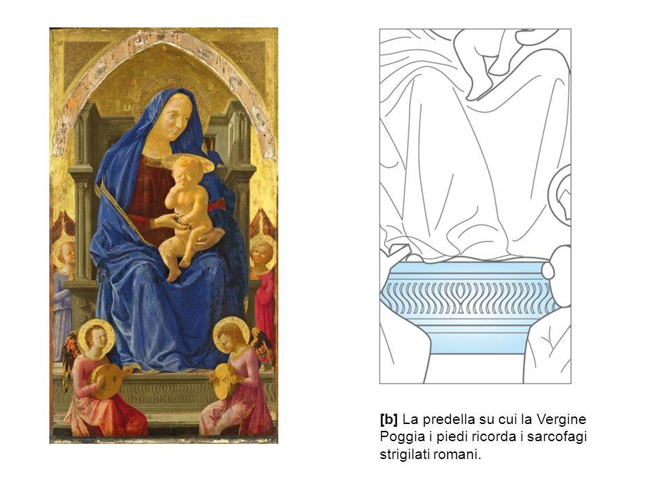 [b] La predella su cui la Vergine